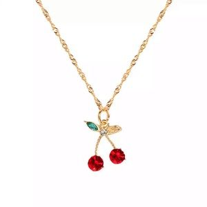 RED AESTHETIC CHERRY NECKLACE